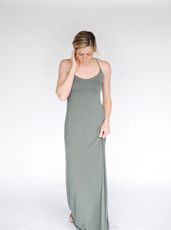 Bella Luxx Low Back Maxi Dress Willow