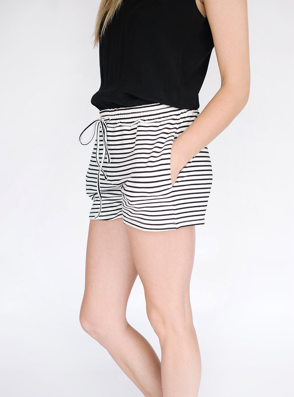 Sunday Supply Co. Striped Demi Romper