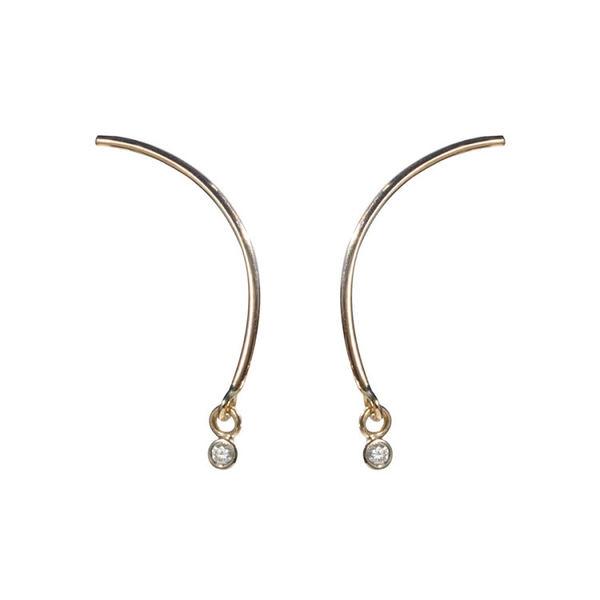 TARA 4779 Yellow Gold Arc Mobile Earring