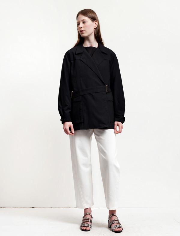 Lemaire  Asymmetrical Jacket Black