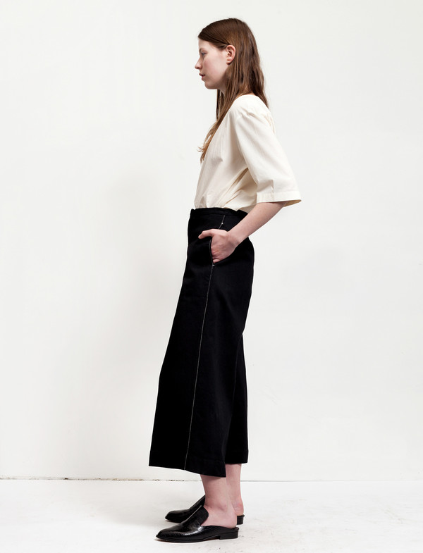 Lemaire Large Pants Cropped Black