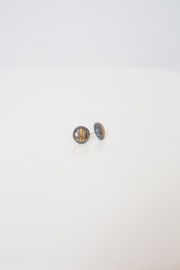 amber e lea striped tribal studs