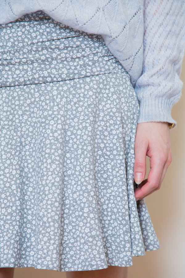 bytimo grey floral skirt