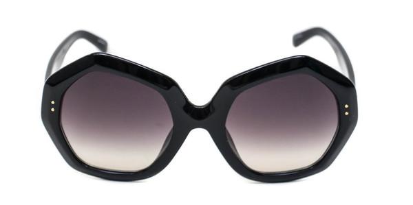 Linda Farrow Black Oversized Geo Sunglasses