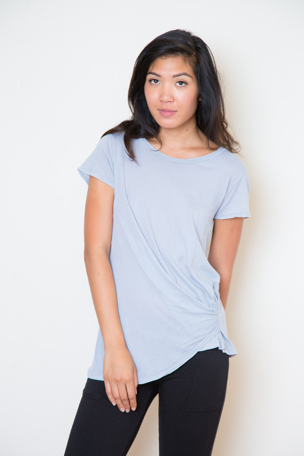 stateside silver crossover tee