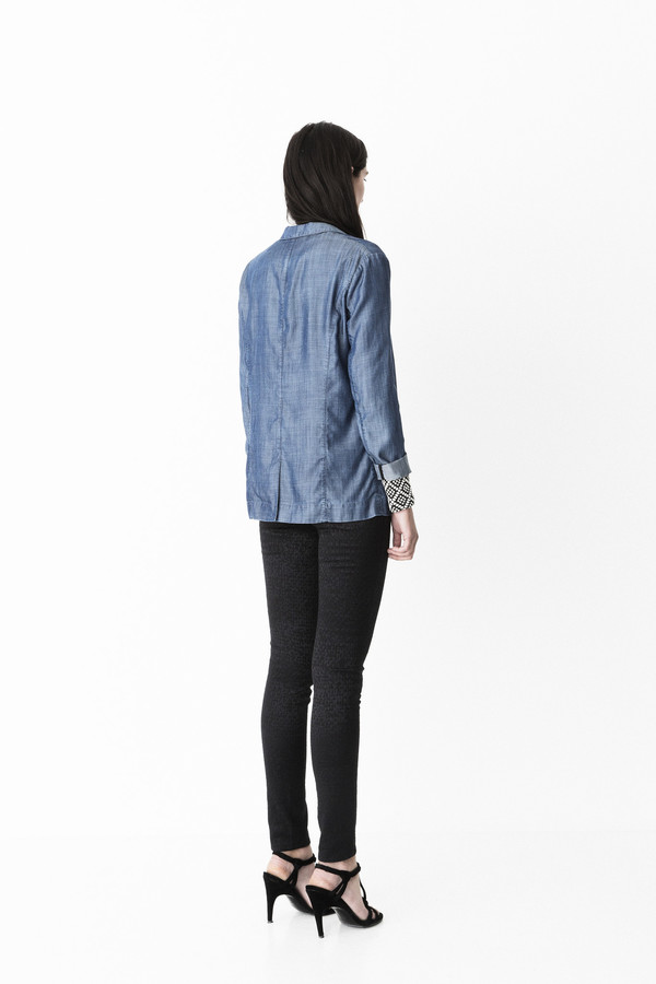 "Storm and Marie ""Pihl"" Dark Chambray Blazer"