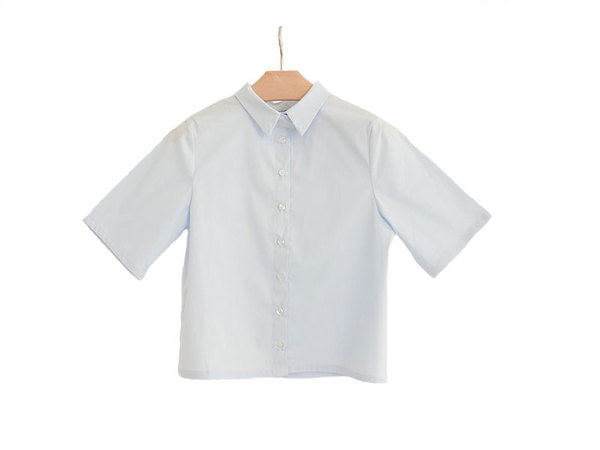Kimem Poplin Cropped Shirt