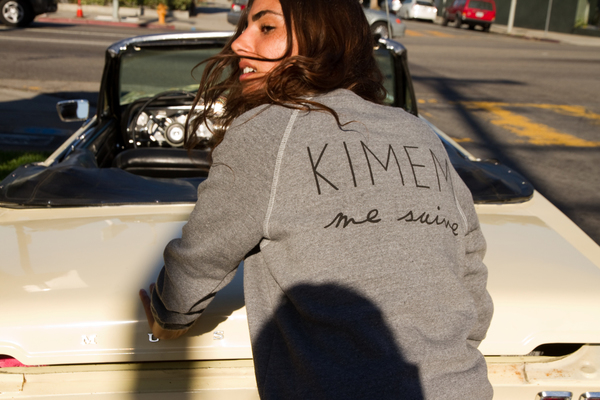 KIMEM me suive print Sweater