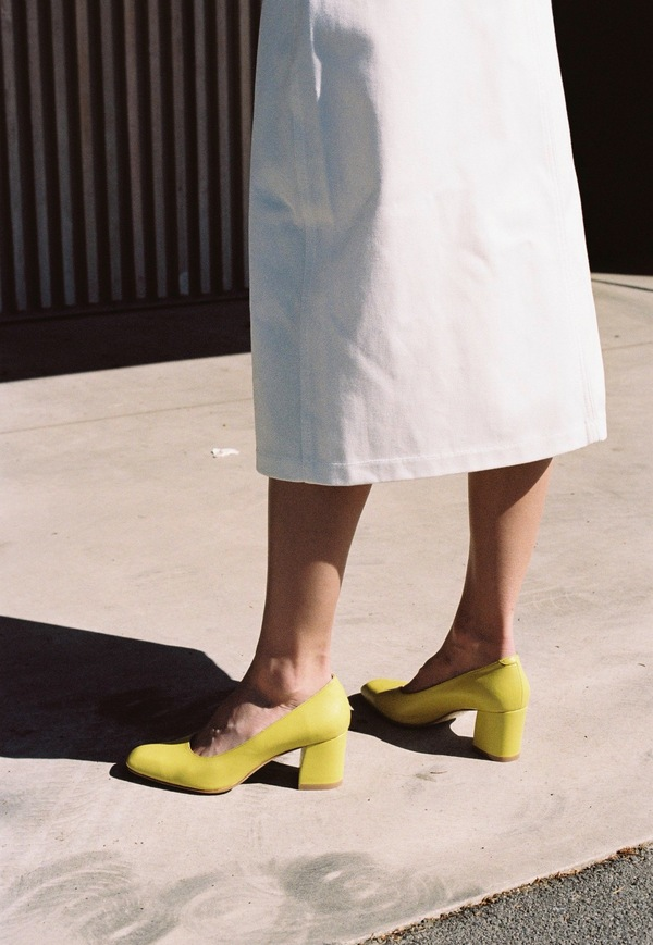 Maryam Nassir Zadeh Maryam Heel - lemon calf