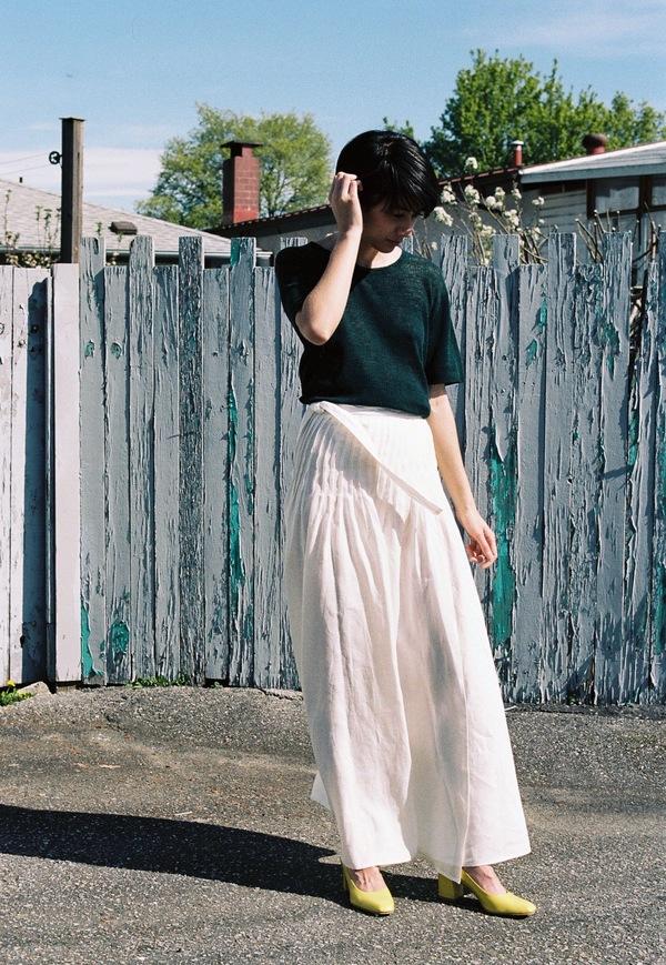 Luisa Et La Luna Julia Skirt - white linen