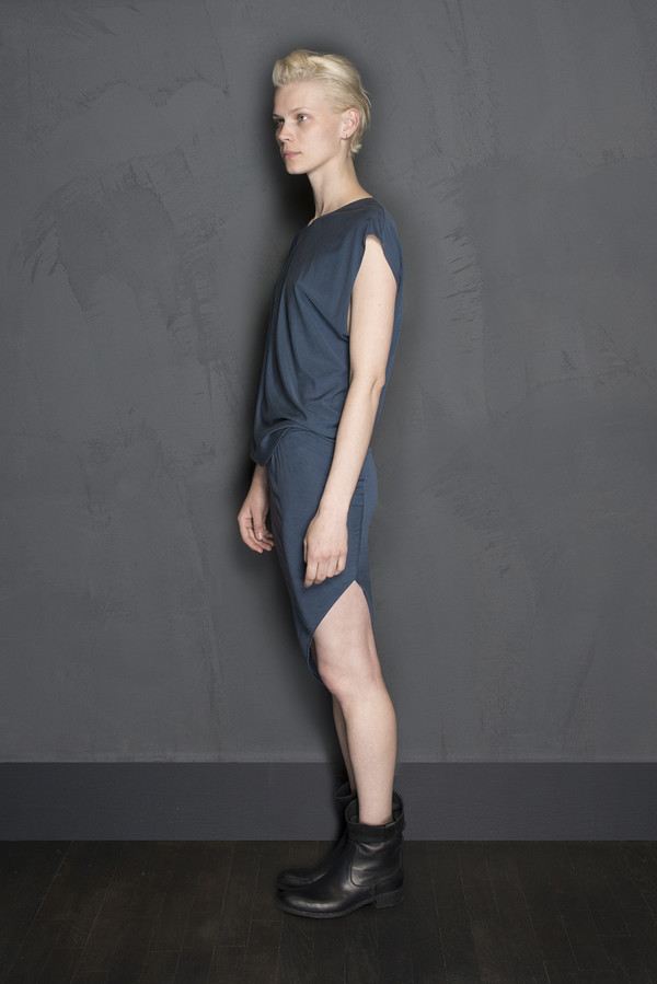 KES Silk Jersey Asymmetric Dress