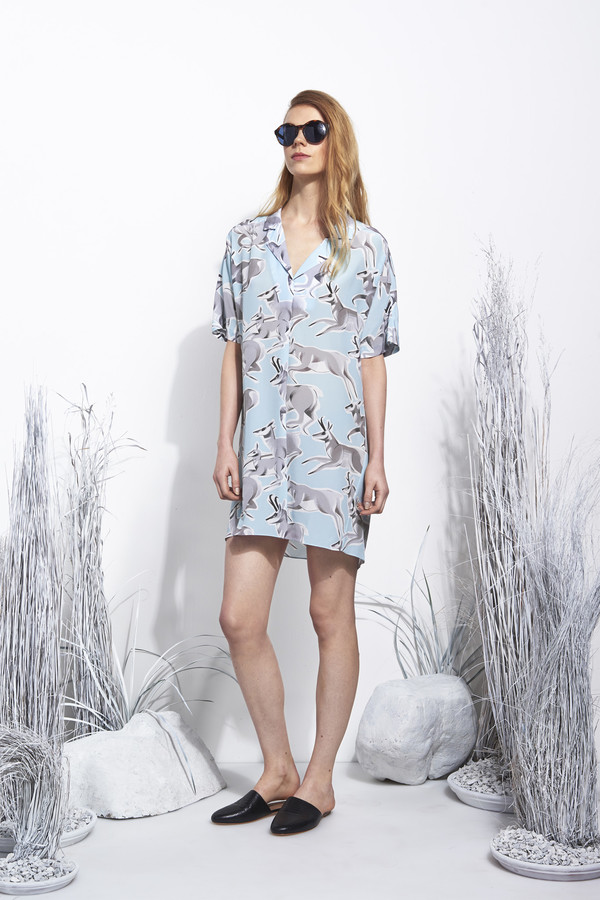 Whit Nox Dress in Deer Print