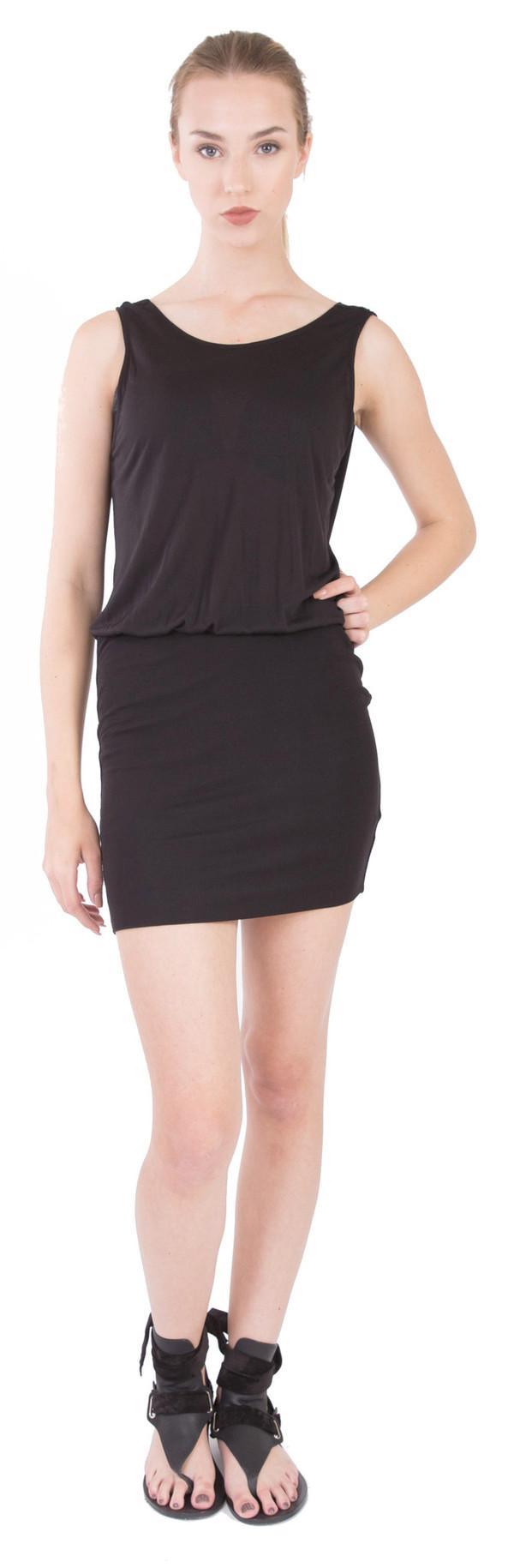 Lanston Drape Back Mini Dress