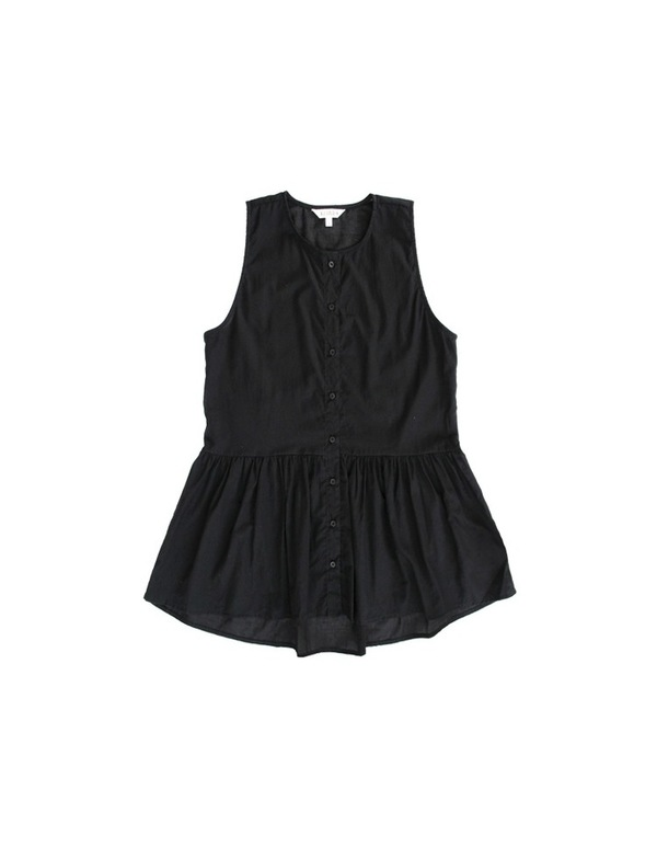 Ali Golden PEPLUM TANK - BLACK