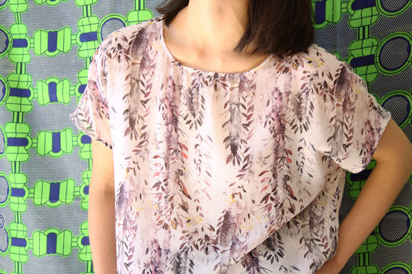 Valerie Dumaine Claire Top (Purple Floral)