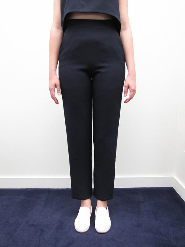 KAAREM Sam High-Waisted Pocket Pant, Black/Blue