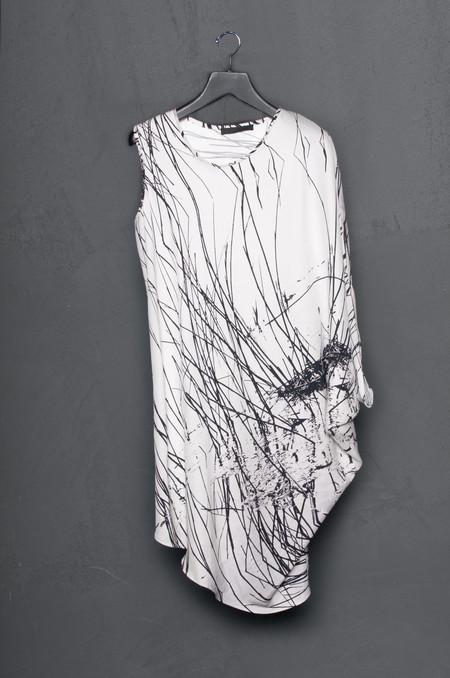 KES Single Sleeve Drape Dress