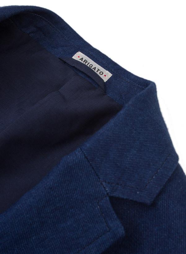 Men's Blue Blue Japan Linen Twill 2 Button Jacket