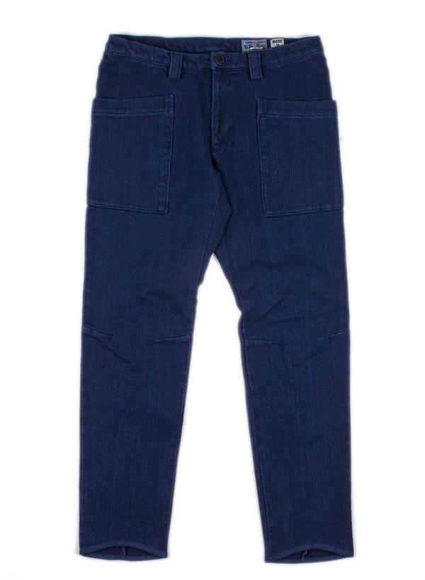 """Men's Blue Blue Japan Woven Pure Indigo """"Sashiko"""" Matsuri Fit Skinny Pants"""