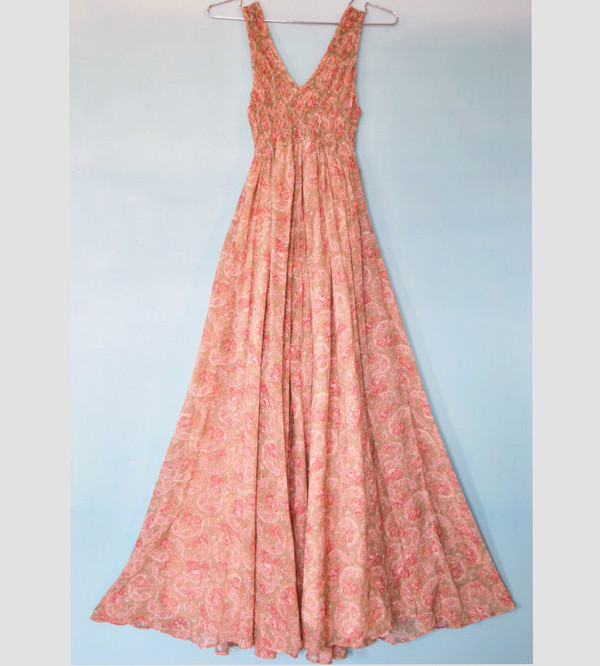 Pale Paisley Princess Dress