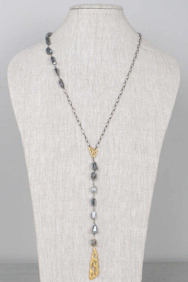 Mickey Lynn ML7643 Y-Necklace Accented with Labradorite