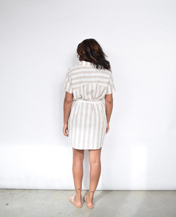 Lumiere Striped Linen Dress