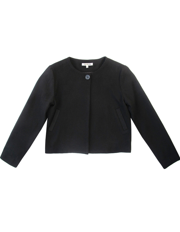Ali Golden Black Wool Blazer