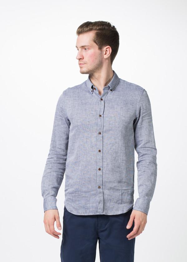 Men's Homecore Tokyo Linen Blend Button Down Shirt