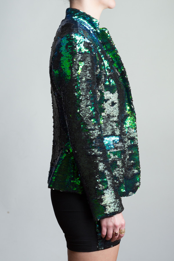 Any Old Iron Peacock Sequin Suit