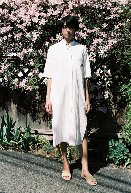 Assembly Shirt Dress - white