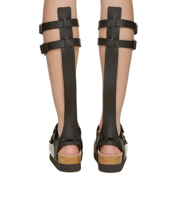 Sacai Leather Multi-Strap Gladiator Sandals