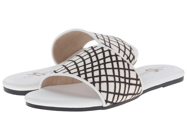 Yosi Samra Reese Linear Hair Calf Slide in White