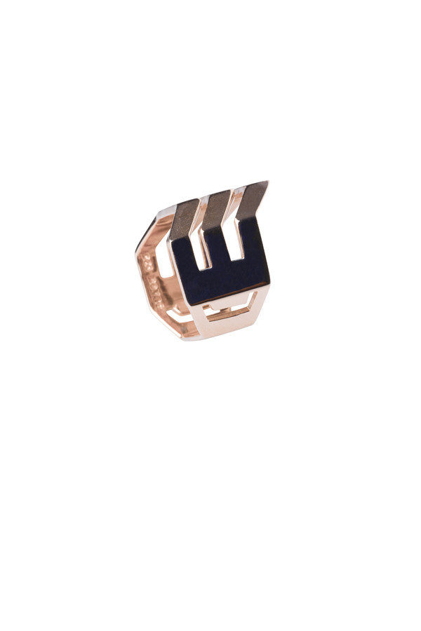 Maria Black Rose Gold Trinity Ring