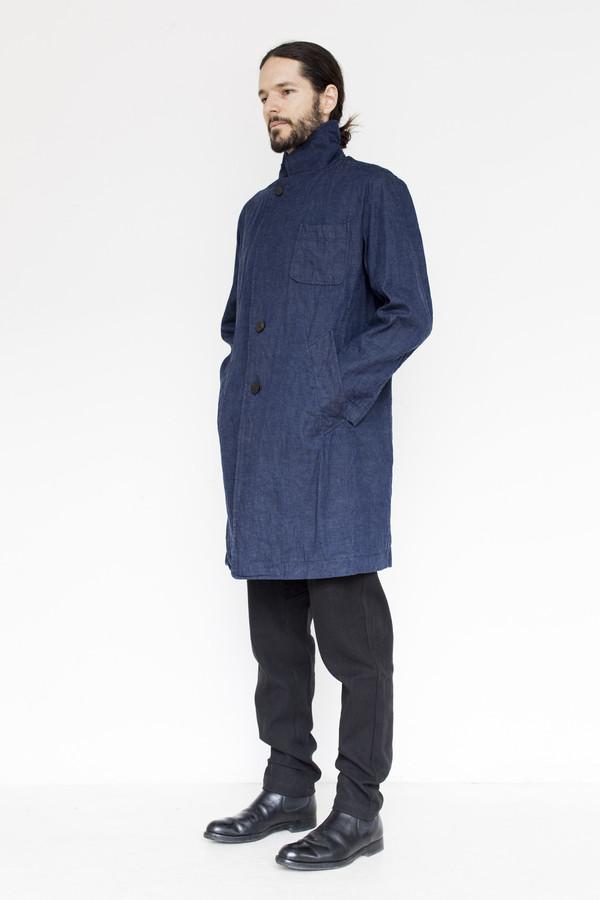 Men's Document Cotton Tailored Denim Coat