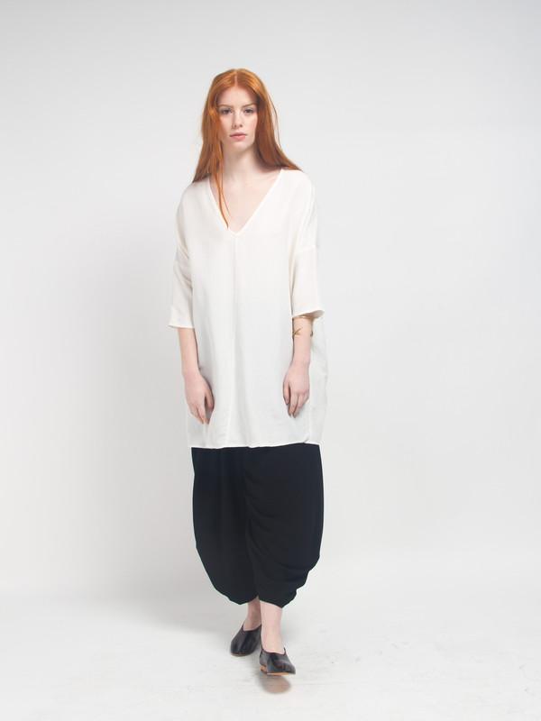 Ali Golden Kimono Tunic White