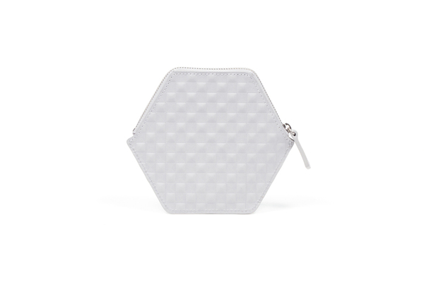 Nº31 Hexa Wallet Chequered in Light Gray