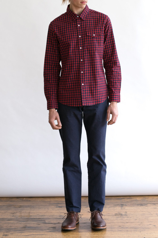 Men's Bridge & Burn Clinton Red and Blue Gingham