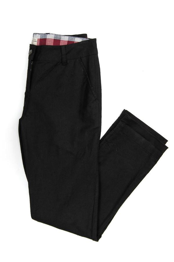 Bridge & Burn Market Trouser Black Linen
