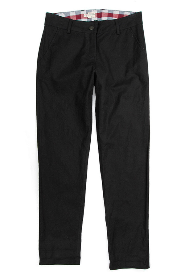 Bridge & Burn Market Trouser Black Linen