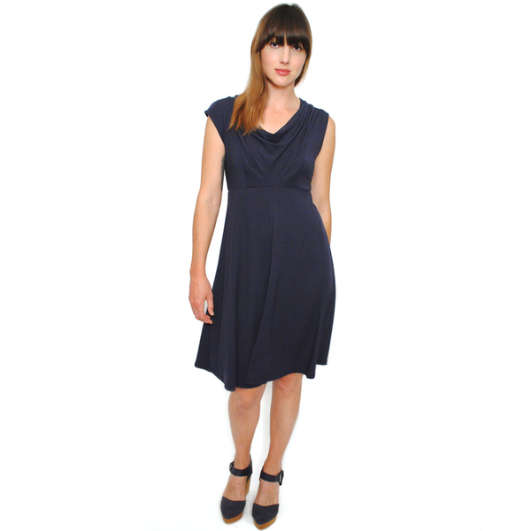 Curator Classic Dress in Navy