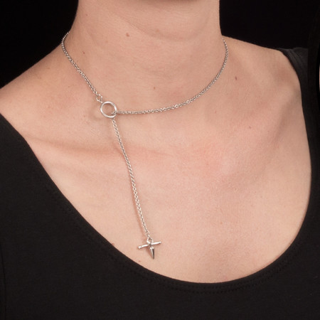 Alynne Lavigne Cross Drop Necklace