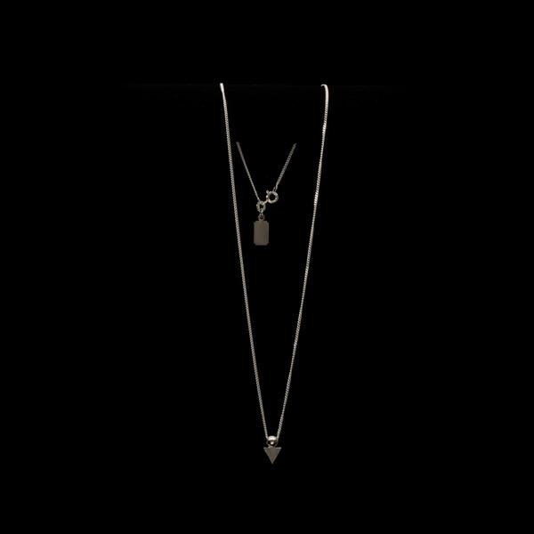 Alynne Lavigne Triangle Ball Necklace