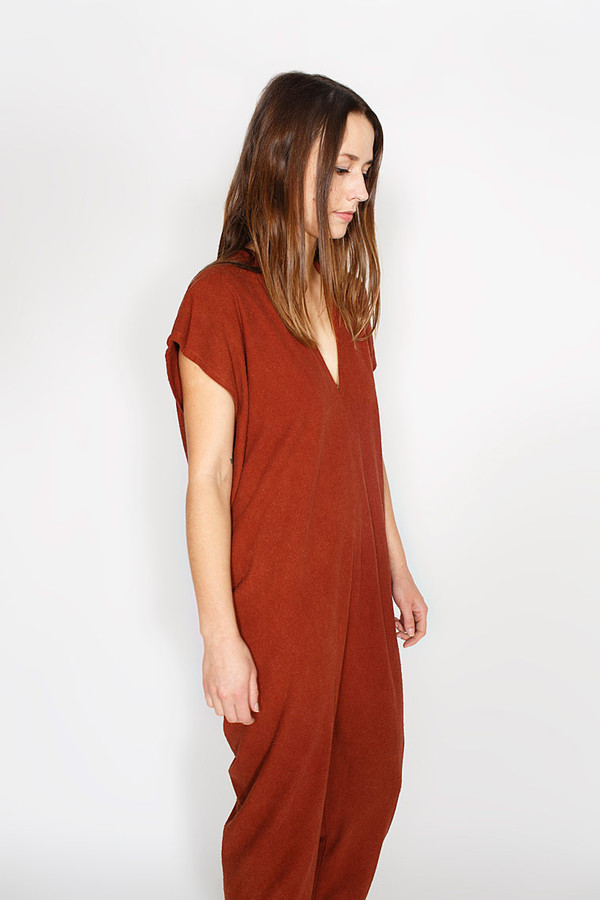 Miranda Bennett Everyday Jumpsuit, Silk in Rust