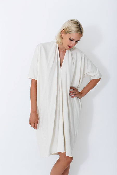 Miranda Bennett Natural Muse Dress, Oversized, Silk