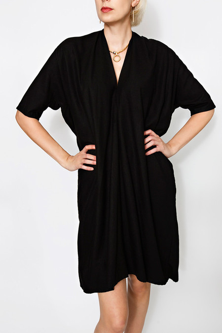 Miranda Bennett Black Muse Dress | Oversized Silk