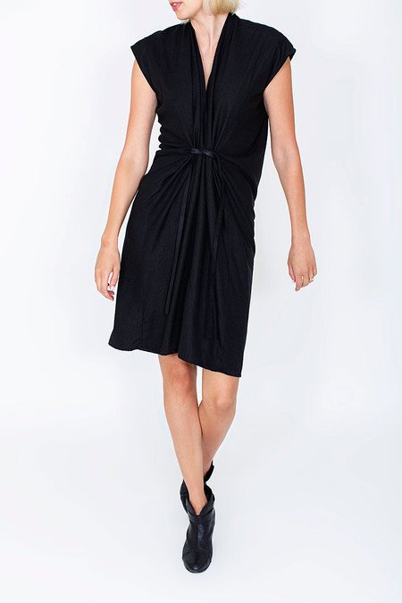 Miranda Bennett Black Tempest Dress, Silk Noil