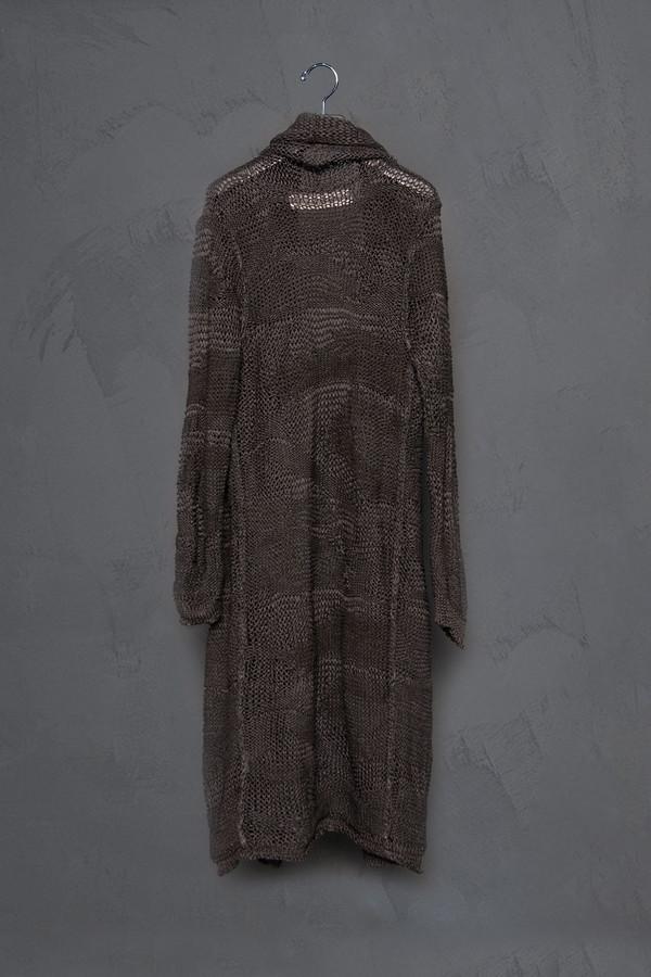 Isabel Benenato Drop Stich Linen Cardigan
