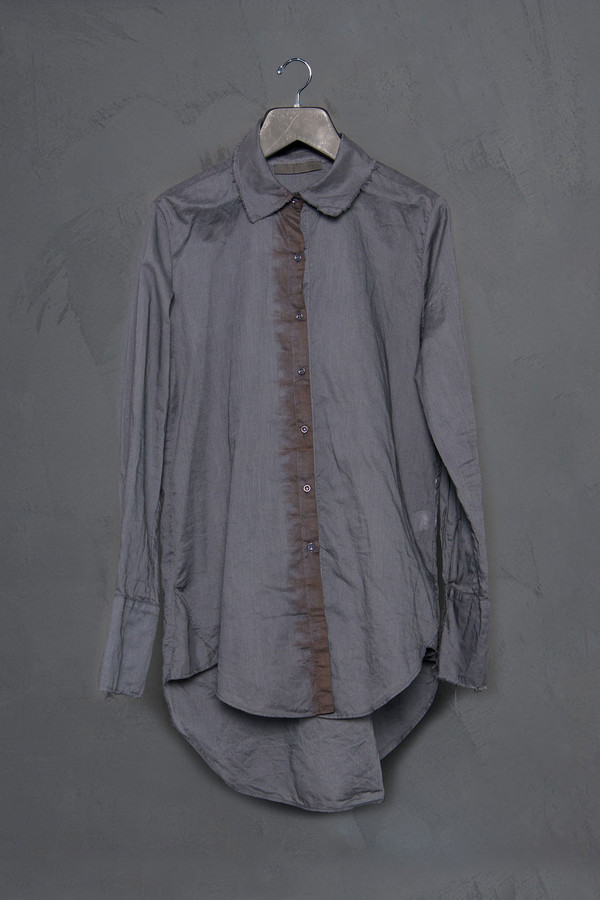 KES Raw Edge Button Up Blouse