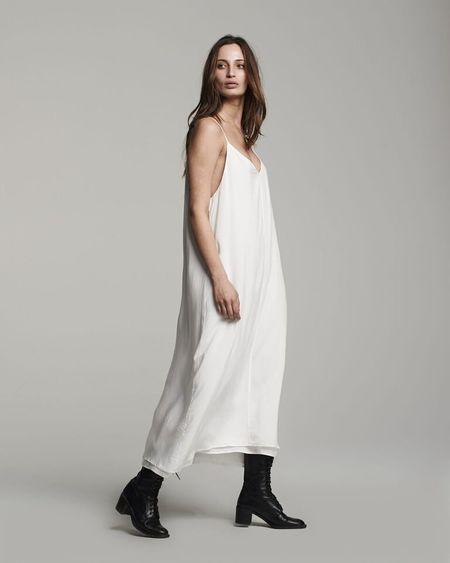 VOZ Double Layer Cami Dress - White