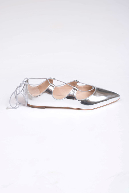 Loeffler Randall Ambra Mirror Leather Flat